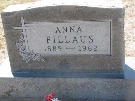 FILLAUS, ANNA - Bon Homme County, South Dakota   ANNA FILLAUS - South Dakota Gravestone Photos