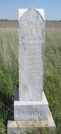 GIMBLE, MARGARETHA - Bon Homme County, South Dakota   MARGARETHA GIMBLE - South Dakota Gravestone Photos