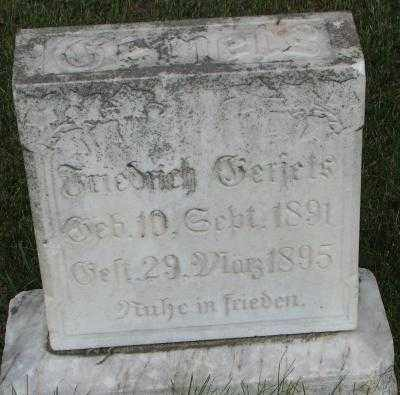 GERJETS, FRIDRICH - Bon Homme County, South Dakota | FRIDRICH GERJETS - South Dakota Gravestone Photos