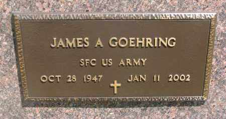 GOEHRING, JAMES A. (MILITARY) - Bon Homme County, South Dakota | JAMES A. (MILITARY) GOEHRING - South Dakota Gravestone Photos