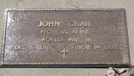 GRAIL, JOHN (WW II) - Bon Homme County, South Dakota | JOHN (WW II) GRAIL - South Dakota Gravestone Photos