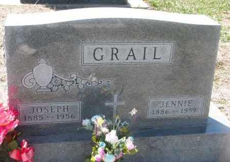 GRAIL, JENNIE - Bon Homme County, South Dakota | JENNIE GRAIL - South Dakota Gravestone Photos