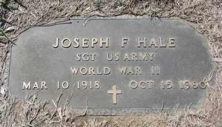 HALE, JOSEPH F. (WW II) - Bon Homme County, South Dakota | JOSEPH F. (WW II) HALE - South Dakota Gravestone Photos