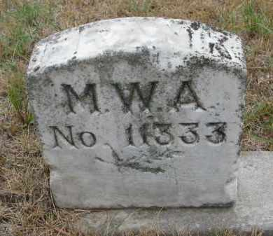 HALEY, FRANK (M.W.A.) - Bon Homme County, South Dakota | FRANK (M.W.A.) HALEY - South Dakota Gravestone Photos