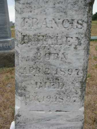 HALEY, FRANCIS (CLOSEUP) - Bon Homme County, South Dakota | FRANCIS (CLOSEUP) HALEY - South Dakota Gravestone Photos