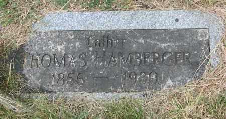 HAMBERGER, THOMAS - Bon Homme County, South Dakota | THOMAS HAMBERGER - South Dakota Gravestone Photos