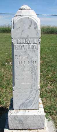 HAYWARD, MARY A. - Bon Homme County, South Dakota   MARY A. HAYWARD - South Dakota Gravestone Photos