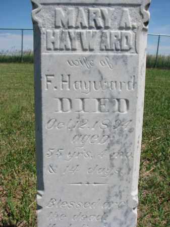 HAYWARD, MARY A. (CLOSEUP) - Bon Homme County, South Dakota | MARY A. (CLOSEUP) HAYWARD - South Dakota Gravestone Photos