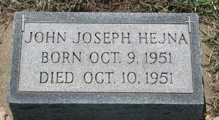 HEJNA, JOHN JOSEPH - Bon Homme County, South Dakota | JOHN JOSEPH HEJNA - South Dakota Gravestone Photos