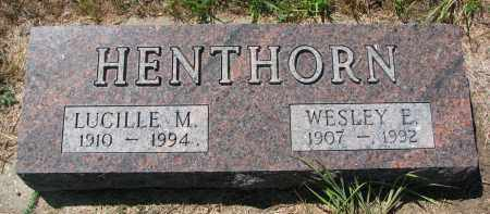 HENTHORN, LUCILLE M. - Bon Homme County, South Dakota | LUCILLE M. HENTHORN - South Dakota Gravestone Photos
