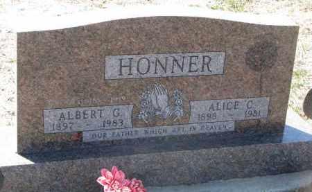 HONNER, ALBERT G. - Bon Homme County, South Dakota | ALBERT G. HONNER - South Dakota Gravestone Photos