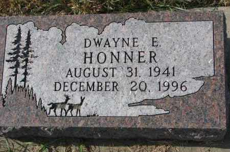 HONNER, DWAYNE E. - Bon Homme County, South Dakota | DWAYNE E. HONNER - South Dakota Gravestone Photos