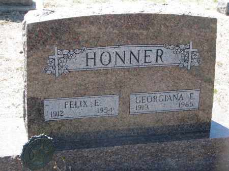HONNER, FELIX E. - Bon Homme County, South Dakota | FELIX E. HONNER - South Dakota Gravestone Photos