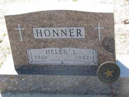 HONNER, HELEN L. - Bon Homme County, South Dakota | HELEN L. HONNER - South Dakota Gravestone Photos