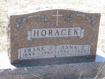 HORACEK, ANNA J. - Bon Homme County, South Dakota   ANNA J. HORACEK - South Dakota Gravestone Photos