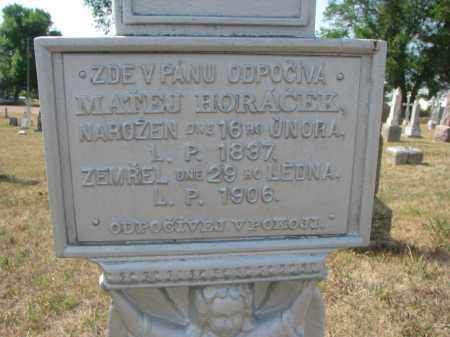 HORACEK, MATEJ (CLOSEUP) - Bon Homme County, South Dakota | MATEJ (CLOSEUP) HORACEK - South Dakota Gravestone Photos