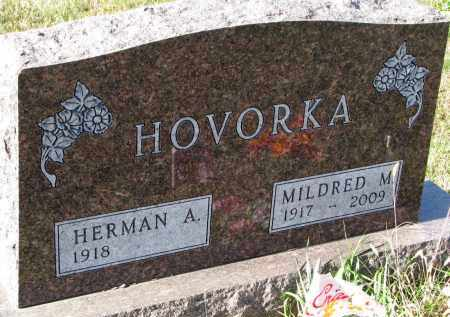 HOVORKA, MILDRED M. - Bon Homme County, South Dakota | MILDRED M. HOVORKA - South Dakota Gravestone Photos