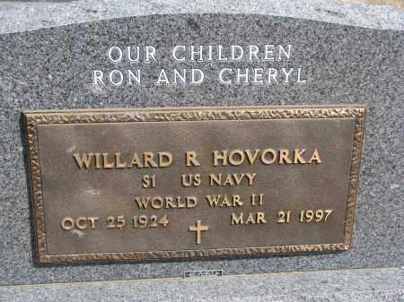 HOVORKA, WILLARD R. (WW II) - Bon Homme County, South Dakota | WILLARD R. (WW II) HOVORKA - South Dakota Gravestone Photos