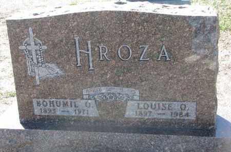 HROZA, LOUISE O. - Bon Homme County, South Dakota | LOUISE O. HROZA - South Dakota Gravestone Photos