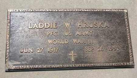 HRUSKA, LADDIE W. (WW II) - Bon Homme County, South Dakota | LADDIE W. (WW II) HRUSKA - South Dakota Gravestone Photos