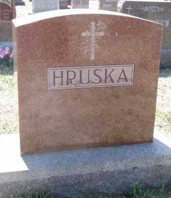 HRUSKA, PLOT STONE - Bon Homme County, South Dakota   PLOT STONE HRUSKA - South Dakota Gravestone Photos