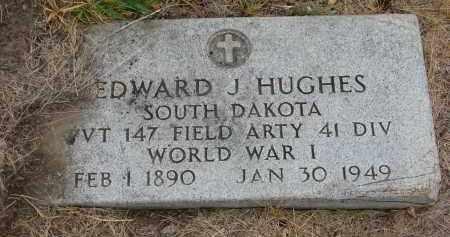 HUGHES, EDWARD J. - Bon Homme County, South Dakota | EDWARD J. HUGHES - South Dakota Gravestone Photos