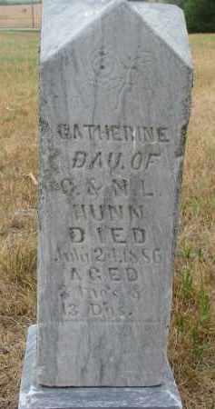 HUNN, CATHERINE - Bon Homme County, South Dakota   CATHERINE HUNN - South Dakota Gravestone Photos