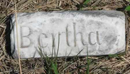 HURD, BERTHA (FOOTSTONE) - Bon Homme County, South Dakota | BERTHA (FOOTSTONE) HURD - South Dakota Gravestone Photos