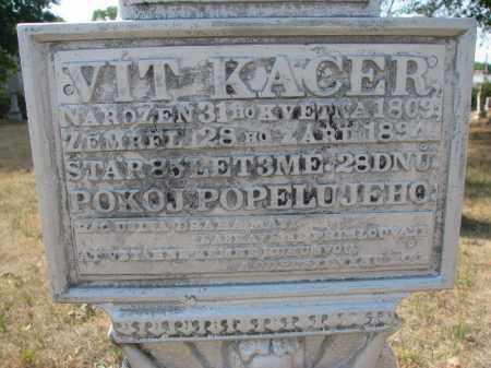 KACER, VIT (CLOSEUP) - Bon Homme County, South Dakota | VIT (CLOSEUP) KACER - South Dakota Gravestone Photos