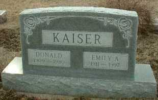 KAISER, EMILY - Bon Homme County, South Dakota | EMILY KAISER - South Dakota Gravestone Photos
