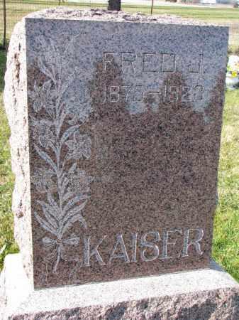 KAISER, FRED J. - Bon Homme County, South Dakota | FRED J. KAISER - South Dakota Gravestone Photos