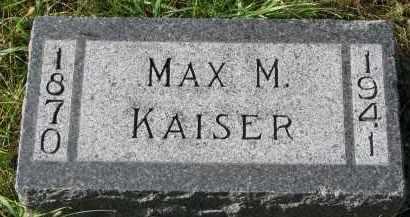 KAISER, MAX M. - Bon Homme County, South Dakota | MAX M. KAISER - South Dakota Gravestone Photos