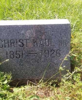 KAUL, CHRISTIAN SR. - Bon Homme County, South Dakota | CHRISTIAN SR. KAUL - South Dakota Gravestone Photos