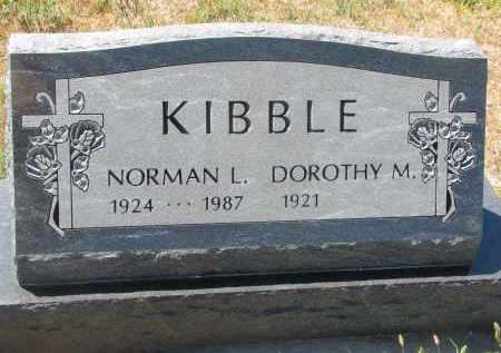 KIBBLE, NORMAN L. - Bon Homme County, South Dakota | NORMAN L. KIBBLE - South Dakota Gravestone Photos