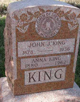 KING, ANNA - Bon Homme County, South Dakota | ANNA KING - South Dakota Gravestone Photos