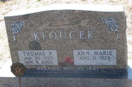 KLOUCEK, THOMAS P. - Bon Homme County, South Dakota | THOMAS P. KLOUCEK - South Dakota Gravestone Photos