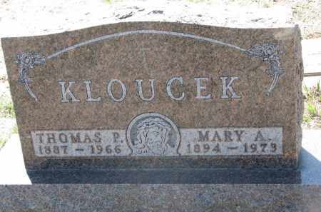 KLOUCEK, MARY A. - Bon Homme County, South Dakota | MARY A. KLOUCEK - South Dakota Gravestone Photos