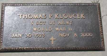 KLOUCEK, THOMAS P. (WW II) - Bon Homme County, South Dakota | THOMAS P. (WW II) KLOUCEK - South Dakota Gravestone Photos