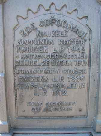 KOCER, ANTONIN (CLOSEUP) - Bon Homme County, South Dakota | ANTONIN (CLOSEUP) KOCER - South Dakota Gravestone Photos