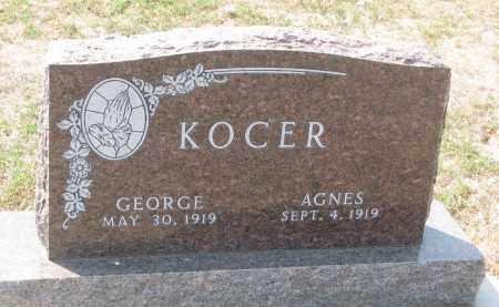 KOCER, AGNES - Bon Homme County, South Dakota   AGNES KOCER - South Dakota Gravestone Photos