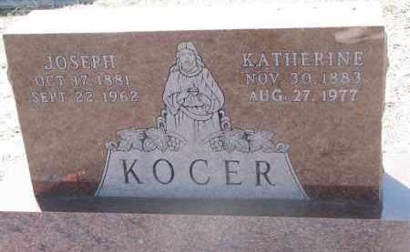 KOCER, KATHERINE - Bon Homme County, South Dakota | KATHERINE KOCER - South Dakota Gravestone Photos