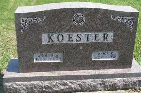 KOESTER, ADOLPH W. - Bon Homme County, South Dakota | ADOLPH W. KOESTER - South Dakota Gravestone Photos