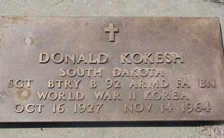 KOKESH, DONALD (MILITARY) - Bon Homme County, South Dakota | DONALD (MILITARY) KOKESH - South Dakota Gravestone Photos