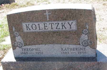 KOLETZKY, THEOPHIL - Bon Homme County, South Dakota | THEOPHIL KOLETZKY - South Dakota Gravestone Photos