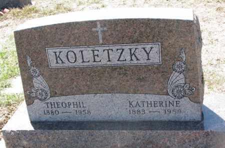 KOLETZKY, KATHERINE - Bon Homme County, South Dakota | KATHERINE KOLETZKY - South Dakota Gravestone Photos