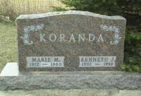 KORANDA, KENNETH - Bon Homme County, South Dakota   KENNETH KORANDA - South Dakota Gravestone Photos