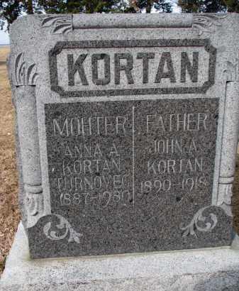 KORTAN, JOHN A. - Bon Homme County, South Dakota   JOHN A. KORTAN - South Dakota Gravestone Photos