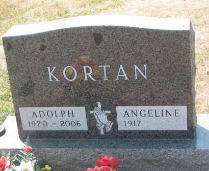 KORTAN, ANGELINE - Bon Homme County, South Dakota   ANGELINE KORTAN - South Dakota Gravestone Photos