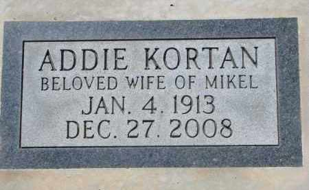 KORTAN, ADDIE - Bon Homme County, South Dakota   ADDIE KORTAN - South Dakota Gravestone Photos