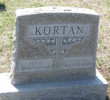 KORTAN, JOSEPHINE - Bon Homme County, South Dakota | JOSEPHINE KORTAN - South Dakota Gravestone Photos